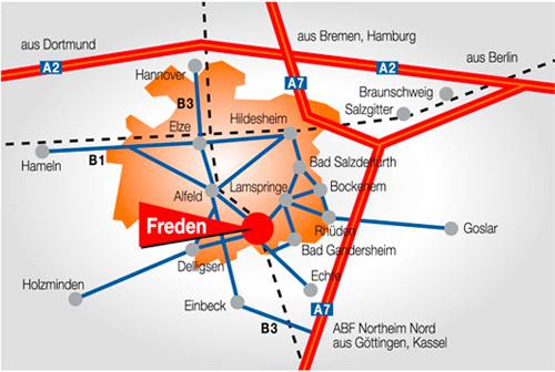 Karte Anfahrt