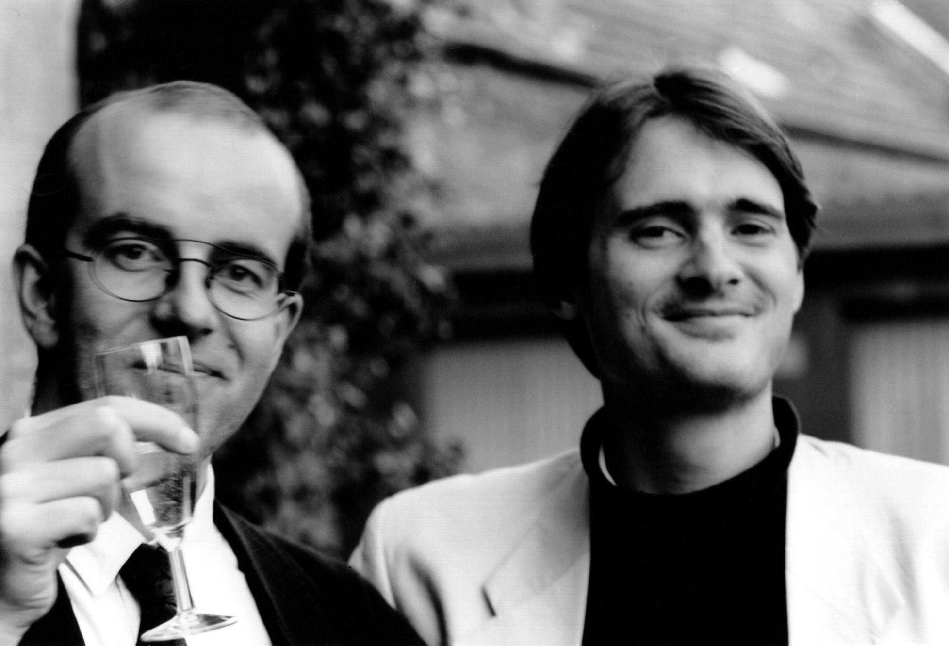 Die Festivalmacher Utz Köster und Adrian Adlam (1991)